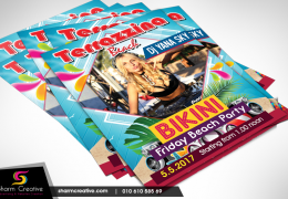 Ms Bikini Terrazzina Flyer designed by Sharm Creative